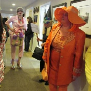 Resident/Staff Halloween Party Orange Lady