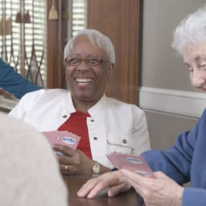 Our Residents Playing Cards