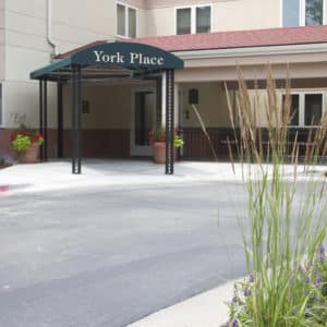 York Place Common Spaces Outside Entrance