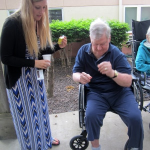Skilled Nursing Assisted Living Resident holiday July 4