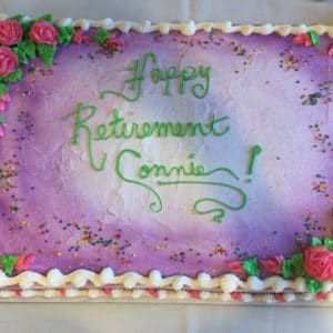 Connie concierge retirement party