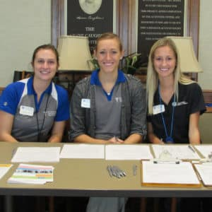 Fall risk and prevention screening with Rockhurst University PT students