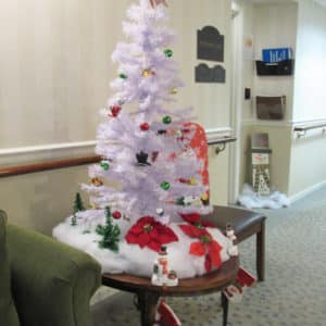 Christmas decor in Windsor Care