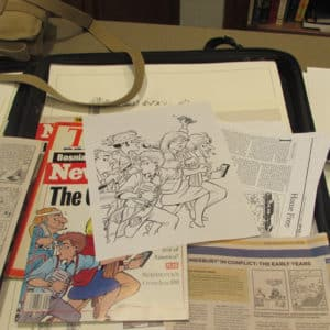 Don Carlton Doonesbury Cartoon Pen and Ink Illustrator